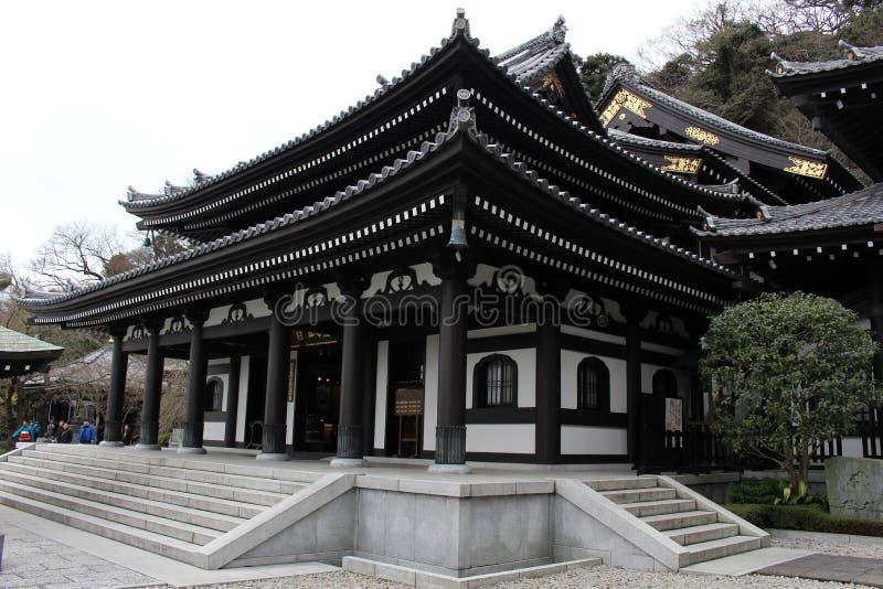 Μετάφραση: Hase-Dera ή βουδιστικός ναός hase-Kannon σε Kamakur στοκ εικόνα
