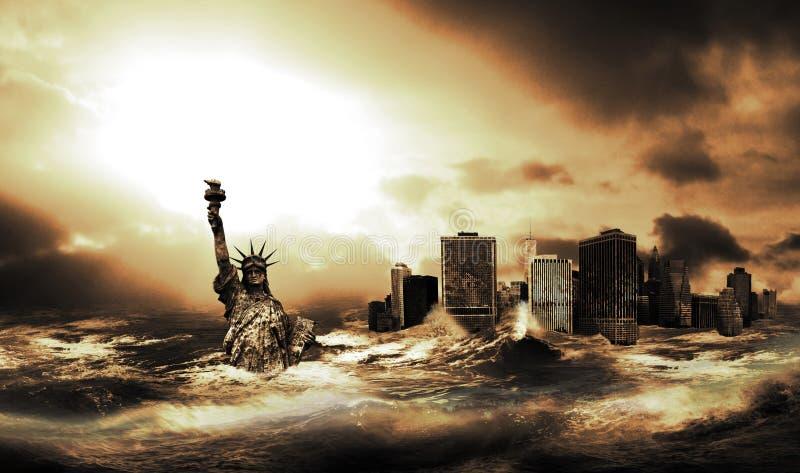 Μετά από το μεγάλο τσουνάμι στοκ φωτογραφία με δικαίωμα ελεύθερης χρήσης