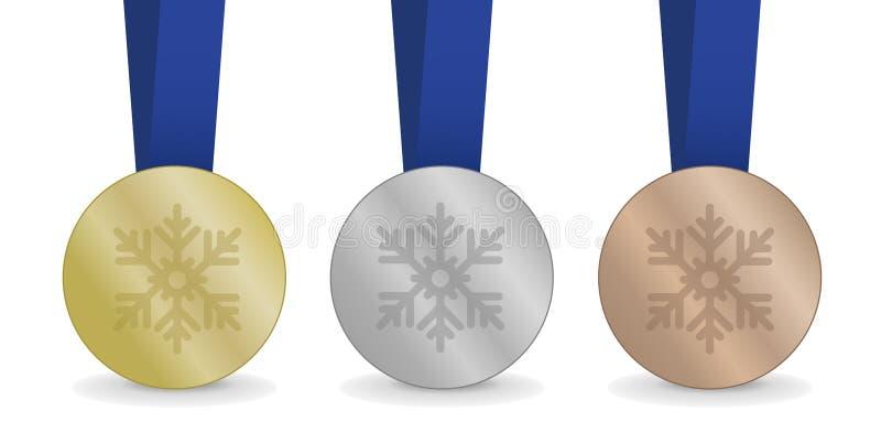 Μετάλλια για τους χειμερινούς αγώνες στοκ εικόνες με δικαίωμα ελεύθερης χρήσης