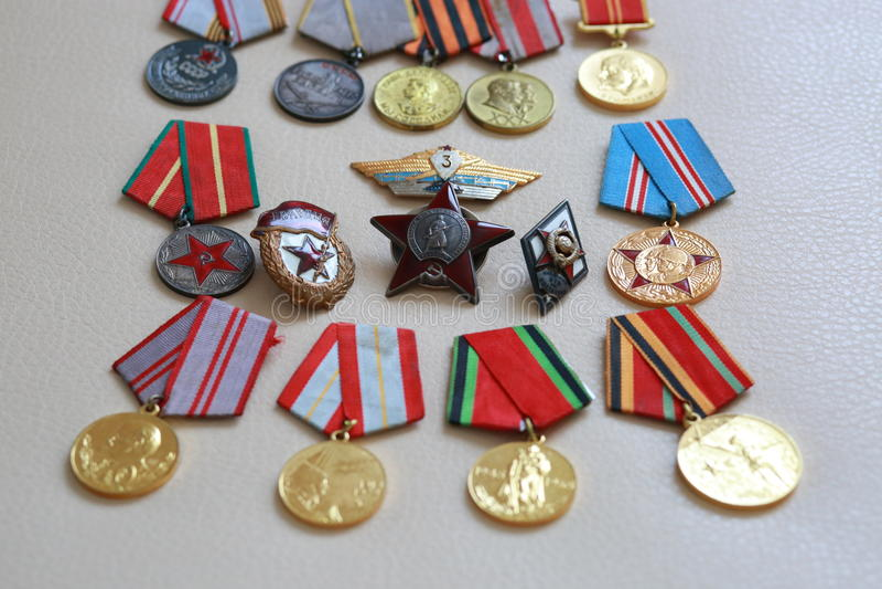 Μετάλλια ΕΣΣΔ στοκ φωτογραφίες με δικαίωμα ελεύθερης χρήσης