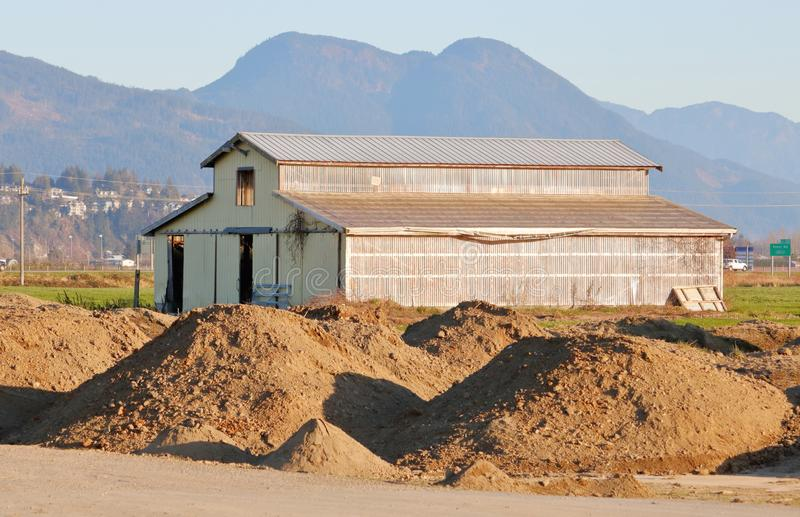 Μεταβαλλόμενη γεωργική χρήση γης στοκ φωτογραφία