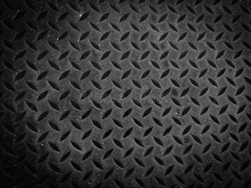 Μεταλλική υφή σιδήρου φόντο και μαύρο δάπεδο σιδήρου στοκ φωτογραφίες με δικαίωμα ελεύθερης χρήσης