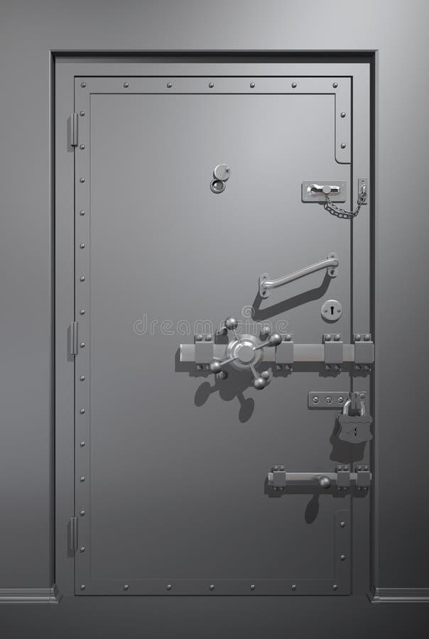 μεταλλικός ασφαλής πορτών στοκ φωτογραφία