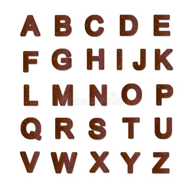 μεταλλικό πιάτο αλφάβητο&u ελεύθερη απεικόνιση δικαιώματος