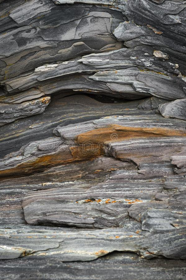 Μεταμορφικές λεπτομέρειες βράχου στοκ φωτογραφίες με δικαίωμα ελεύθερης χρήσης