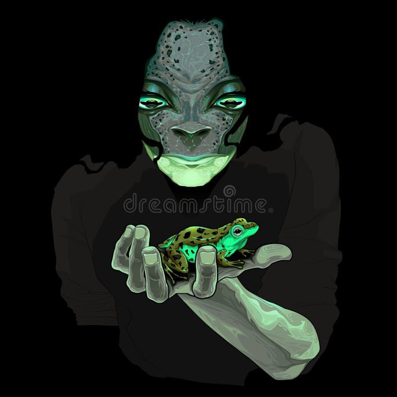Μεταμόρφωση, τύπος τεράτων με έναν βάτραχο ελεύθερη απεικόνιση δικαιώματος