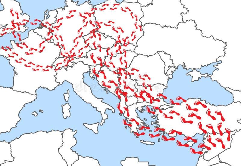 μετανάστευση διανυσματική απεικόνιση