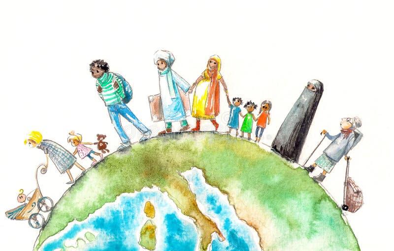 μετανάστευση ελεύθερη απεικόνιση δικαιώματος