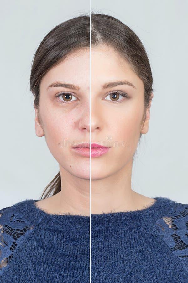 Μετασχηματισμός Makeup στοκ εικόνες