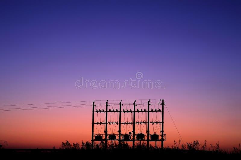μετασχηματιστές ηλιοβα&si στοκ φωτογραφία