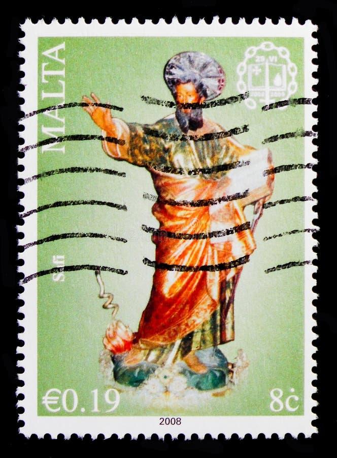 Μετατροπή της εκκλησίας του Saint-Paul, Hal Safi, serie Annus Paulinus 2008-2009, circa 2008 στοκ εικόνες