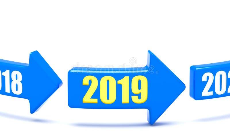 Μετατόπιση έτους διανυσματική απεικόνιση