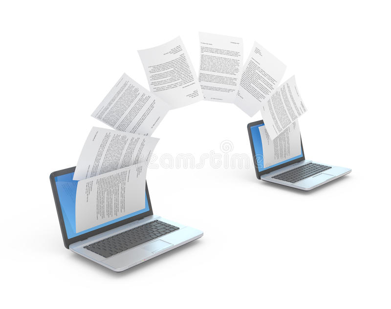 Μεταφορά αρχείων. ελεύθερη απεικόνιση δικαιώματος