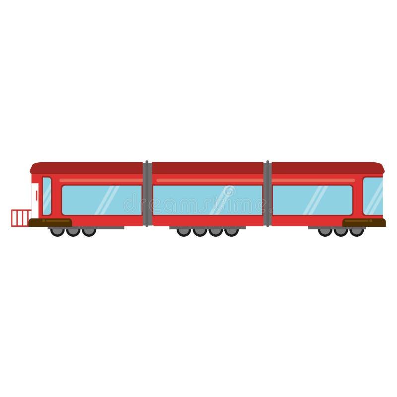 μεταφορά βαγονιών εμπορευμάτων ραγών τραίνων στοκ εικόνα