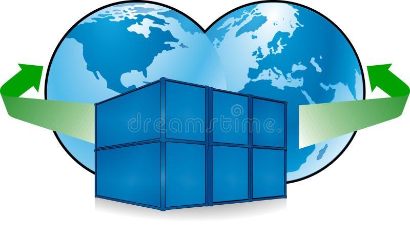 μεταφορά εμπορευματοκ&io διανυσματική απεικόνιση