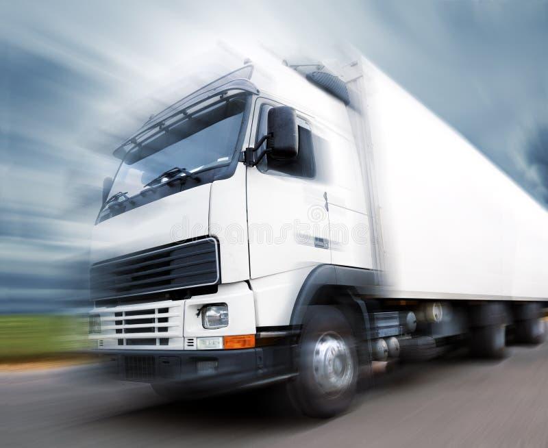 Μεταφορά και ταχύτητα φορτηγών ελεύθερη απεικόνιση δικαιώματος