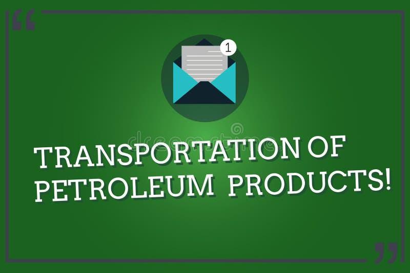 Μεταφορά κειμένων γραψίματος λέξης των πετρελαιοειδών Επιχειρησιακή έννοια για τις αποστολές πετρελαίου και βιομηχανίας φυσικού α ελεύθερη απεικόνιση δικαιώματος