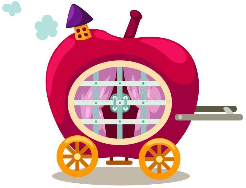 μεταφορά μήλων διανυσματική απεικόνιση