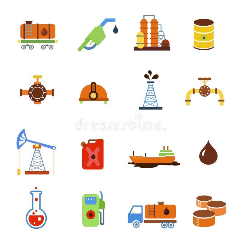 Μεταφορά παραγωγής αερίου εξαγωγής πετρελαίου και διανυσματική απεικόνιση