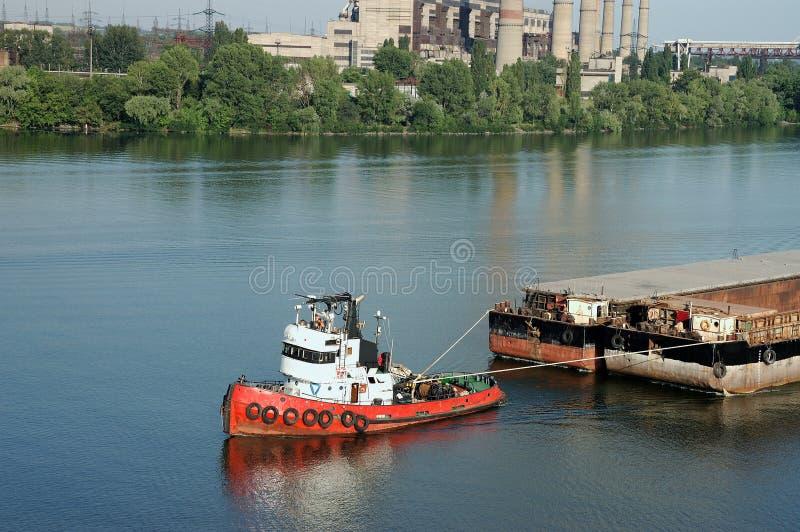 μεταφορά ποταμών φορτίου στοκ εικόνα με δικαίωμα ελεύθερης χρήσης
