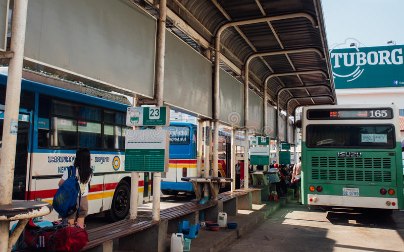 Μεταφορά σε Vientiane, Λάος στοκ φωτογραφία