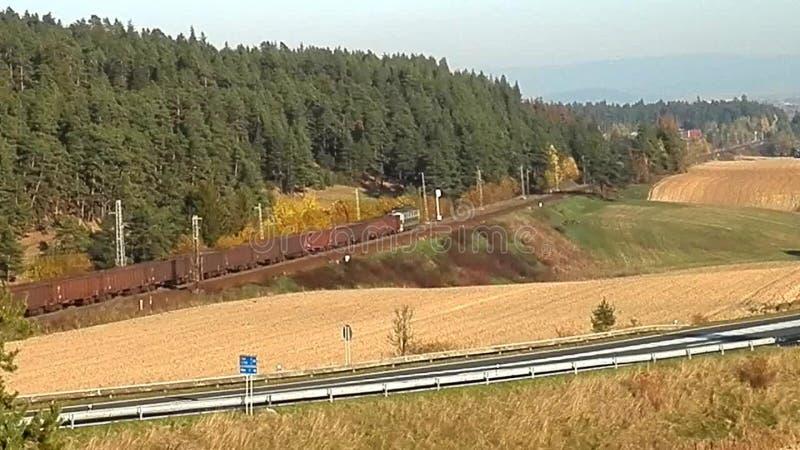 Μεταφορά σιδηροδρόμων στη χώρα, απόθεμα βίντεο