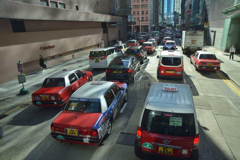 Μεταφορά ταξί πόλεων Χονγκ Κονγκ στοκ εικόνα
