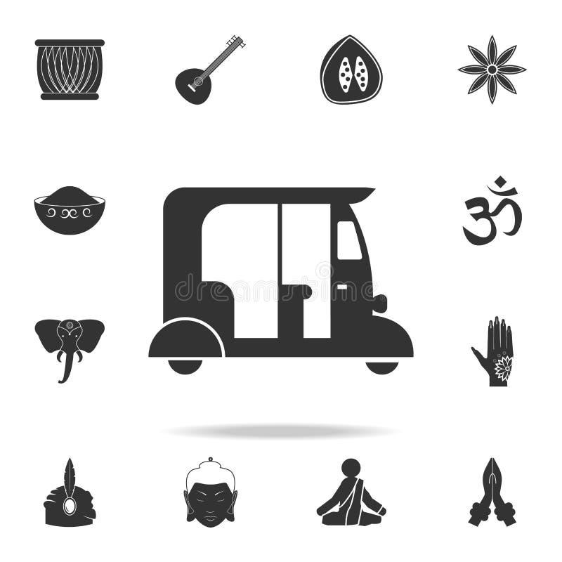 μεταφορά του εικονιδίου της Ινδίας Λεπτομερές σύνολο ινδικών εικονιδίων πολιτισμού Γραφικό σχέδιο εξαιρετικής ποιότητας Ένα από τ απεικόνιση αποθεμάτων