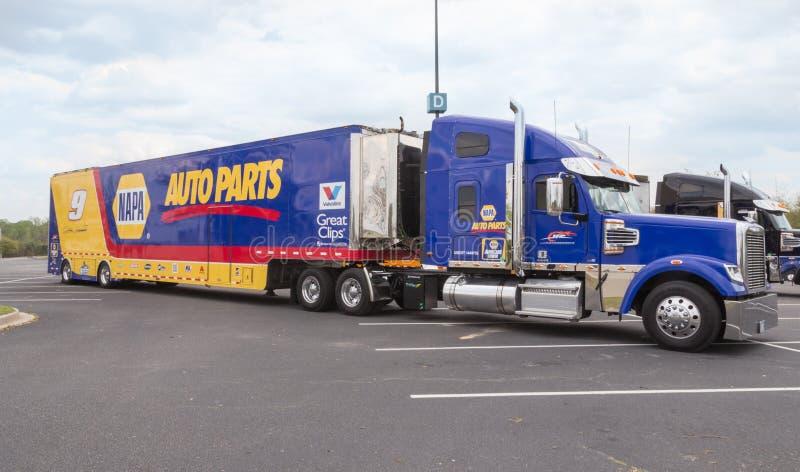 Μεταφορέας NASCAR για #9 το αυλάκωμα Elliott στοκ εικόνες με δικαίωμα ελεύθερης χρήσης