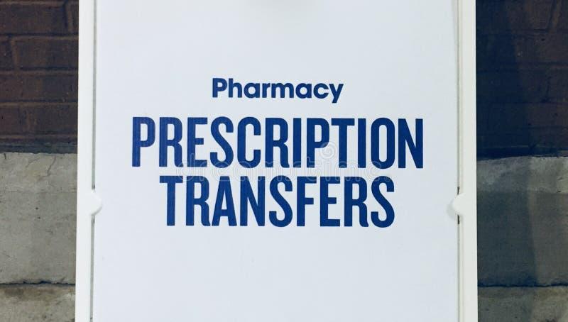 Μεταφορές συνταγών φαρμακείων στοκ φωτογραφίες