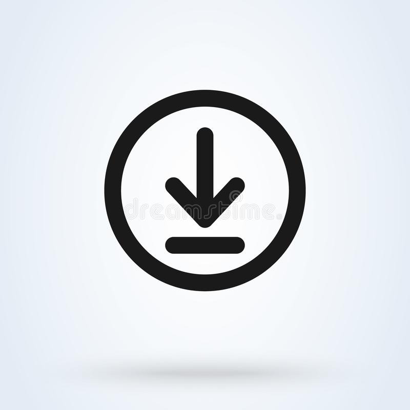 Μεταφορτώστε και εγκαταστήστε την απλή διανυσματική σύγχρονη απεικόνιση σχεδίου εικονιδίων διανυσματική απεικόνιση