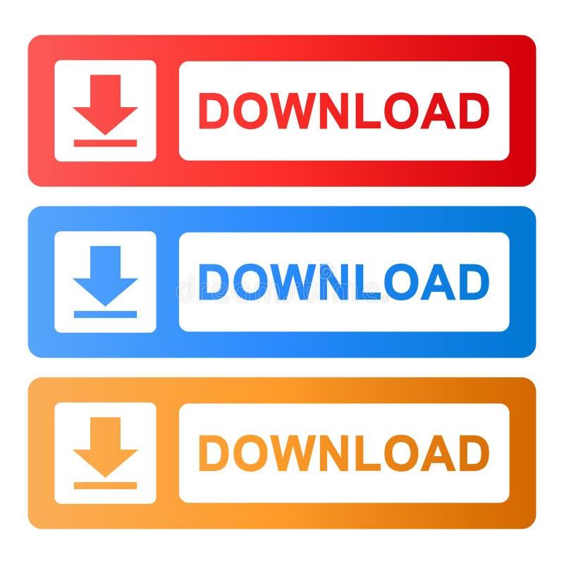 Μεταφορτώστε τον ιστοχώρο Διαδικτύου κουμπιών διανυσματική απεικόνιση