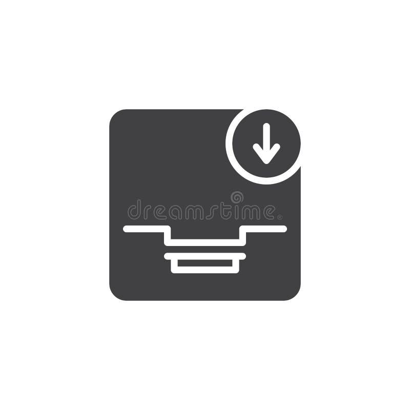 Μεταφορτώστε το διανυσματικό εικονίδιο ηλεκτρονικού ταχυδρομείου ελεύθερη απεικόνιση δικαιώματος