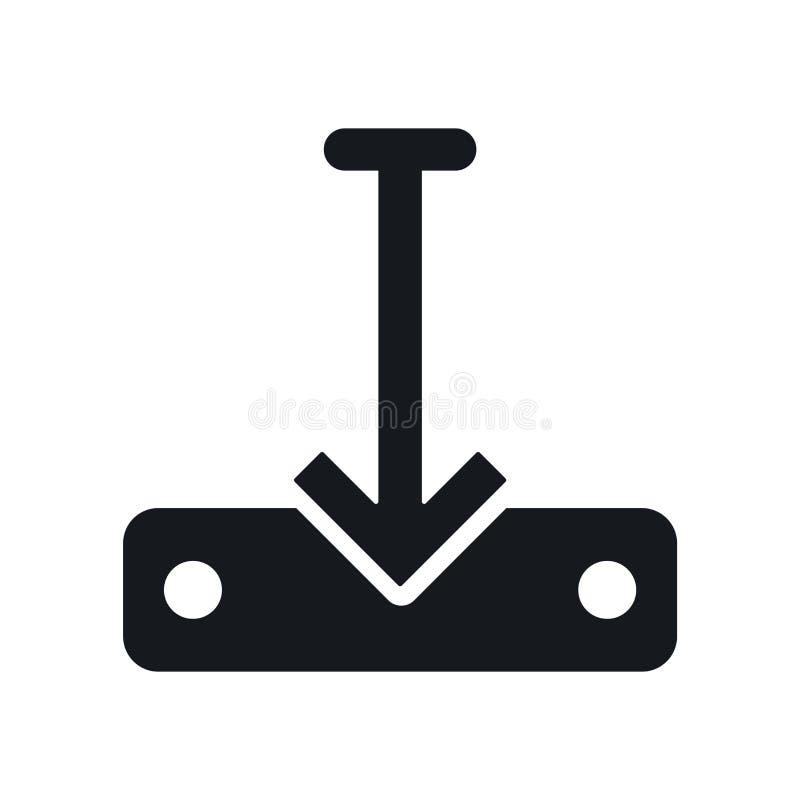 Μεταφορτώστε το διανυσματικό σημάδι εικονιδίων αρχείων και το σύμβολο που απομονώνεται στο άσπρο υπόβαθρο, μεταφορτώνει την έννοι ελεύθερη απεικόνιση δικαιώματος