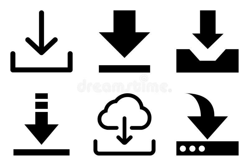 Μεταφορτώστε το διανυσματικό σύνολο εικονιδίων έξι μονάδων ελεύθερη απεικόνιση δικαιώματος