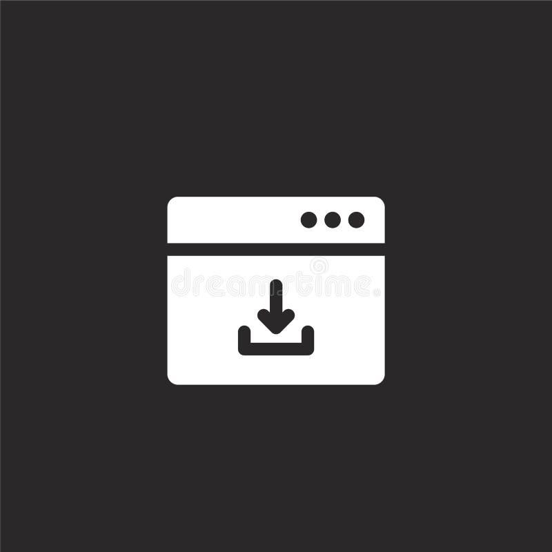 μεταφορτώστε το εικονίδιο Γεμισμένος μεταφορτώστε το εικονίδιο για το σχέδιο ιστοχώρου και κινητός, app ανάπτυξη μεταφορτώστε το  ελεύθερη απεικόνιση δικαιώματος