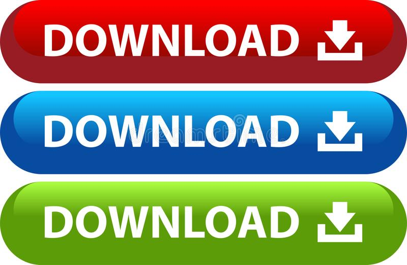 Μεταφορτώστε το σύνολο εικονιδίων Ιστού κουμπιών απεικόνιση αποθεμάτων
