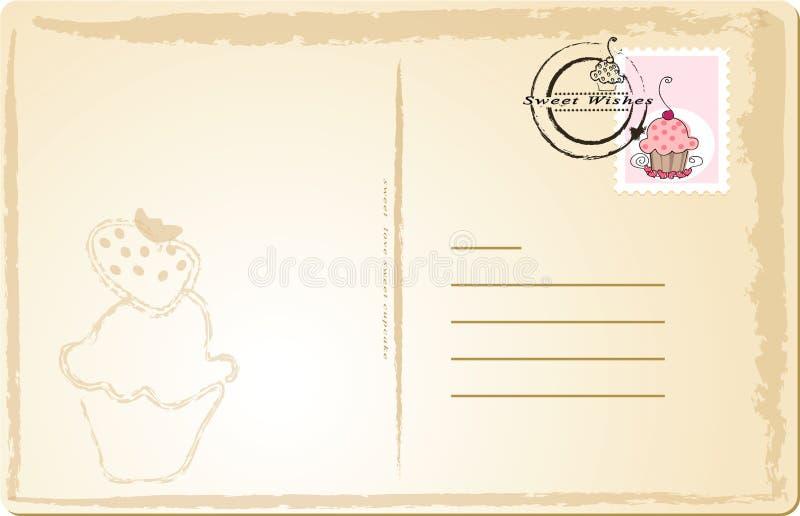 μετα γλυκό καρτών διανυσματική απεικόνιση