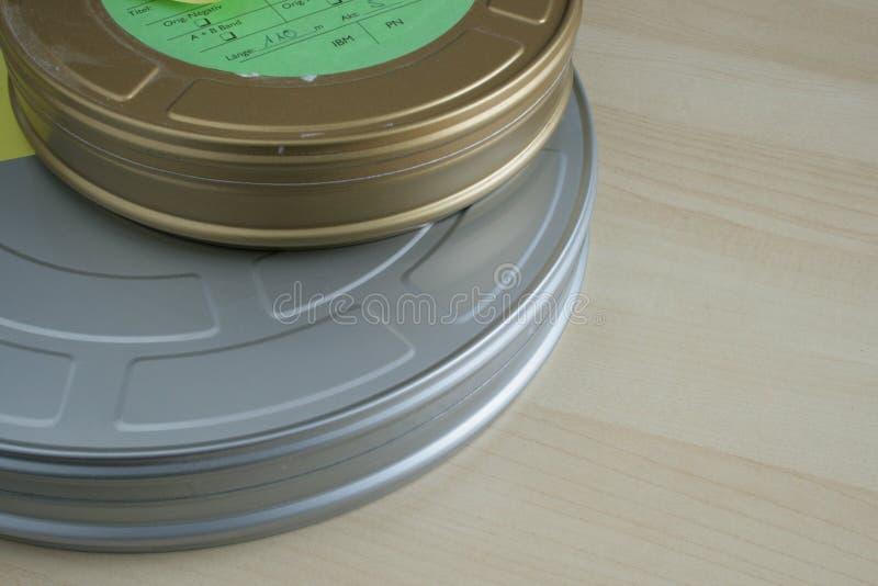 Μεταλλικά κουτιά ταινιών στοκ εικόνα με δικαίωμα ελεύθερης χρήσης