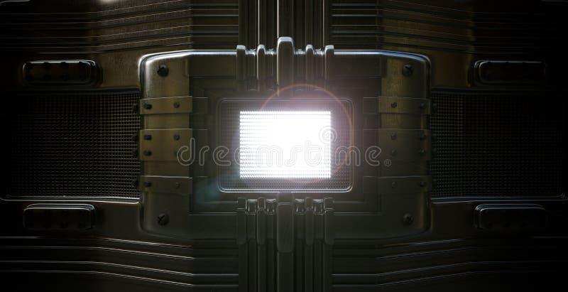 Μεταλλικό πιάτο με τη διατρυπημένη φωτογραφία έννοιας τρυπών στοκ φωτογραφίες με δικαίωμα ελεύθερης χρήσης