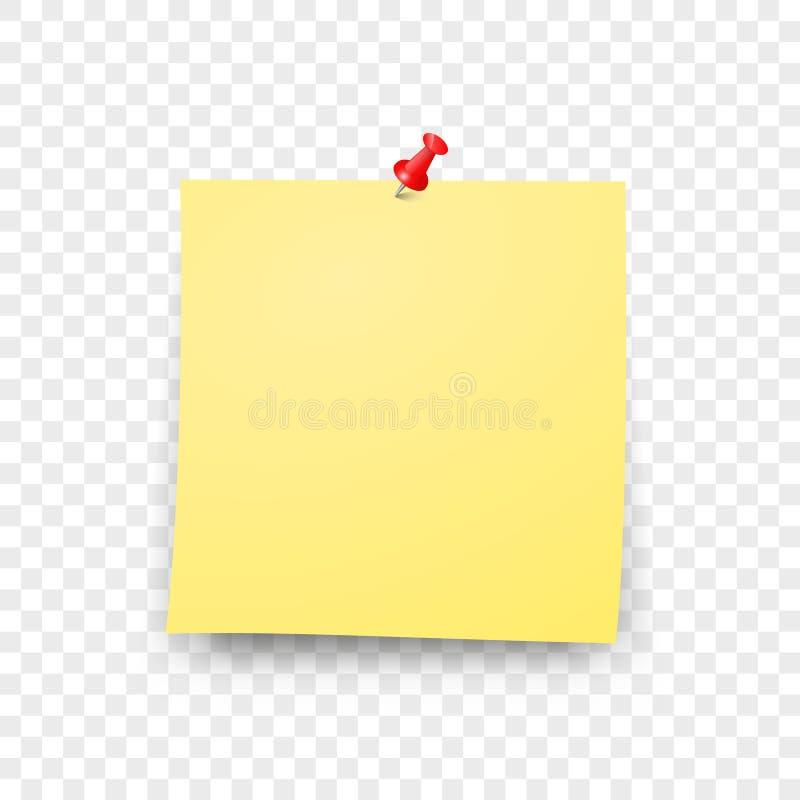Μετα κενό κολλώδες διάνυσμα φύλλων εγγράφου στοκ εικόνες