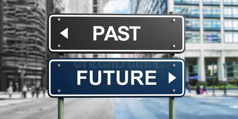 Μετα μελλοντικό παρελθόν σημαδιών στοκ εικόνα με δικαίωμα ελεύθερης χρήσης