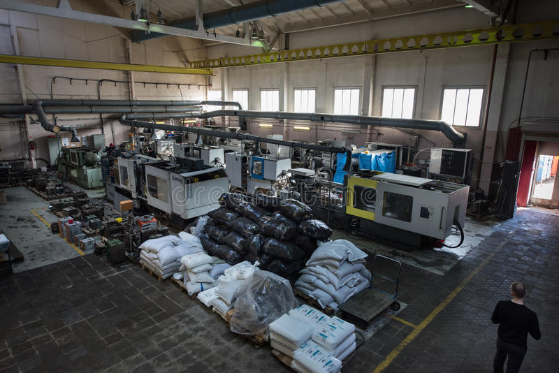 Μεταλλουργικό εργαστήριο εργοστασίων στοκ εικόνα με δικαίωμα ελεύθερης χρήσης