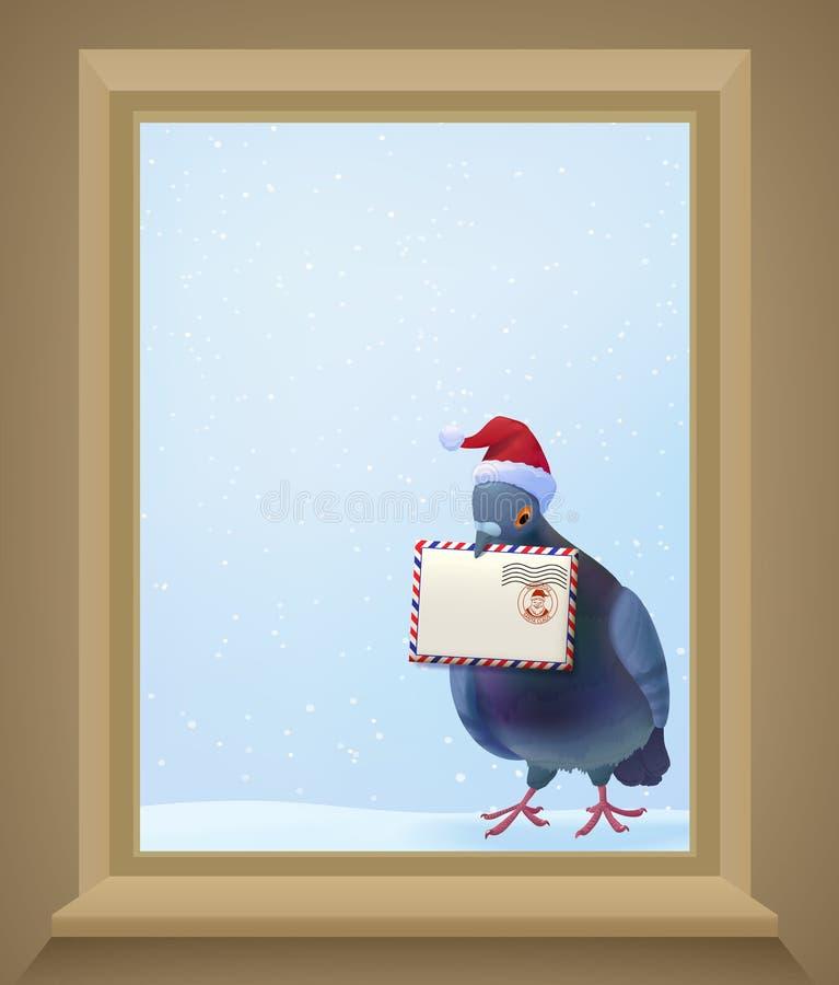 Μετα περιστέρι Χριστουγέννων ελεύθερη απεικόνιση δικαιώματος