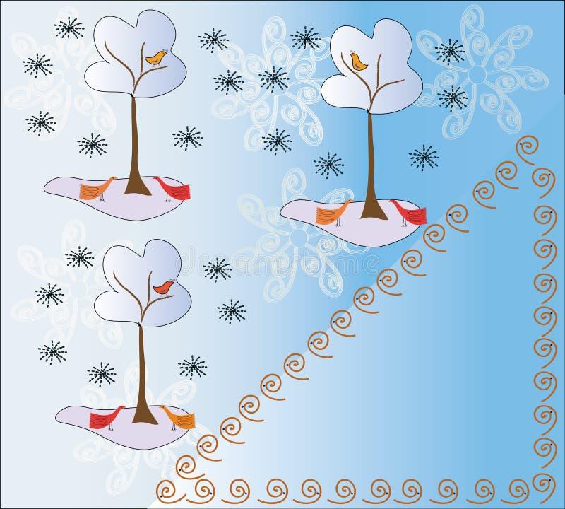 μετα χειμώνας δέντρων προτύ& απεικόνιση αποθεμάτων