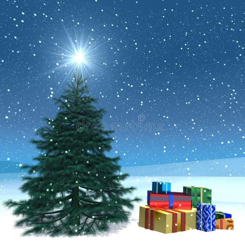 μετα Χριστούγεννα καρτών ελεύθερη απεικόνιση δικαιώματος