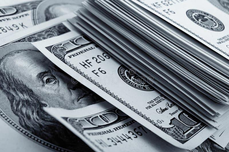Μετρητά Αμερικάνικη ασπρόμαυρη φωτογραφία στοκ εικόνες