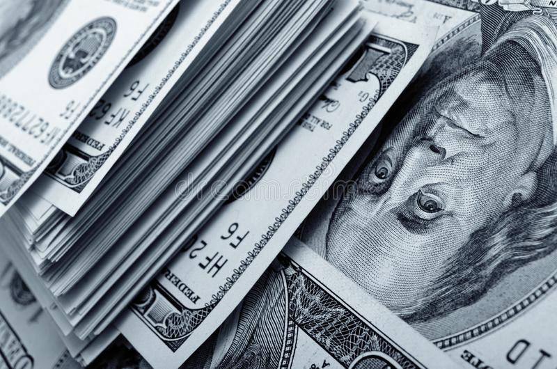 Μετρητά Αμερικάνικη ασπρόμαυρη φωτογραφία στοκ φωτογραφία με δικαίωμα ελεύθερης χρήσης