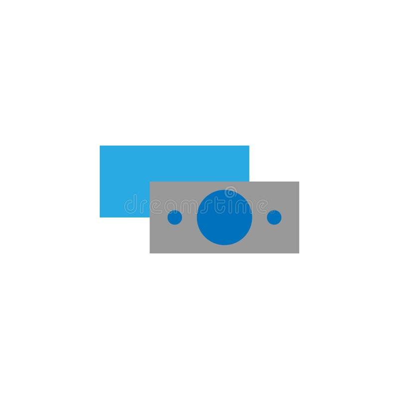 Μετρητά και εικονίδιο χρηματοδότησης Στοιχείο του εικονιδίου ενδιάμεσων με τον χρήστη για την κινητούς έννοια και τον Ιστό apps Τ ελεύθερη απεικόνιση δικαιώματος