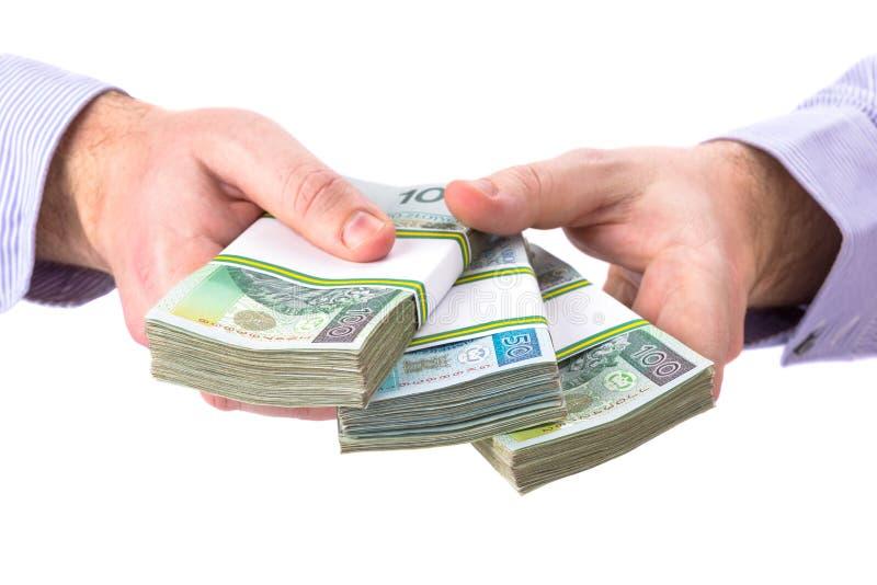 Μετρητά υπό εξέταση ως σύμβολο δανείου στοκ φωτογραφία με δικαίωμα ελεύθερης χρήσης
